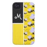 Modelo de la abeja amarilla y negra iPhone 4 protectores
