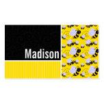 Modelo de la abeja amarilla y negra tarjetas de visita