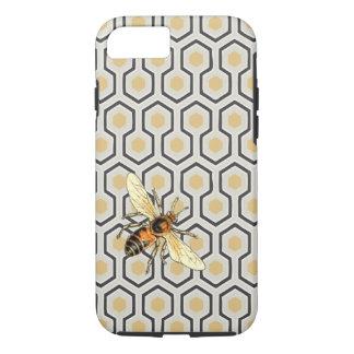 Modelo de la abeja y del panal funda iPhone 7