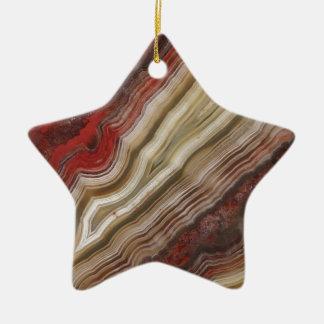 Modelo de la ágata adorno navideño de cerámica en forma de estrella
