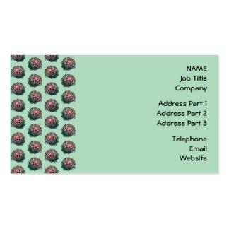 Modelo de la alcachofa en verde claro tarjetas personales