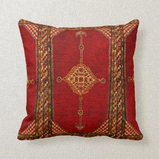 Modelo de la alfombra persa almohadas