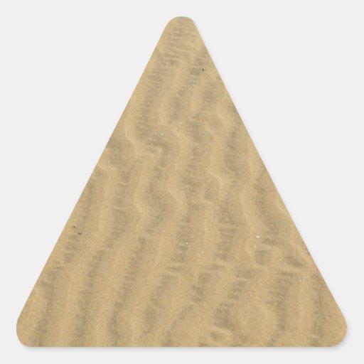 modelo de la arena del desierto pegatina triangular