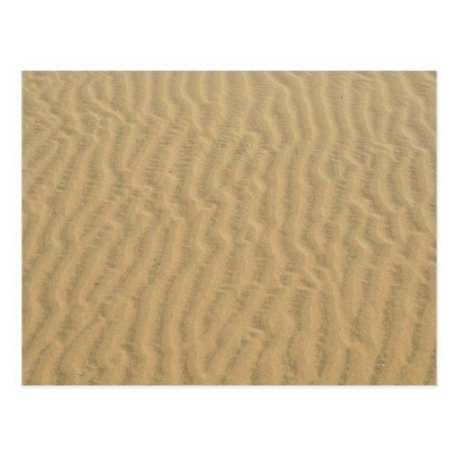modelo de la arena del desierto postal