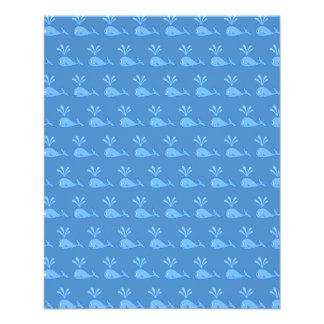 """Modelo de la ballena azul folleto 4.5"""" x 5.6"""""""