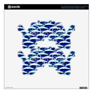 Modelo de la ballena de Bowhead en azul Mando PS3 Skins