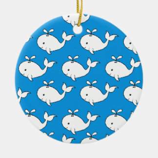 Modelo de la ballena ornamento de navidad