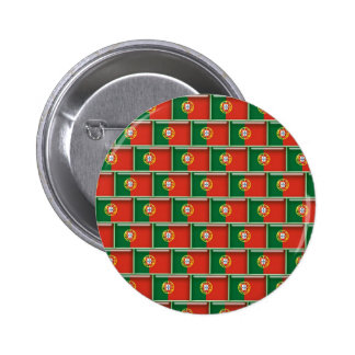 Modelo de la bandera 3D de Portugal Pin Redondo 5 Cm