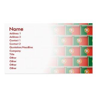 Modelo de la bandera 3D de Portugal Tarjetas De Visita