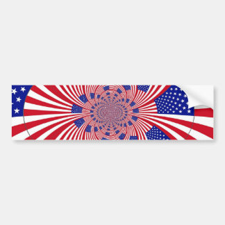 Modelo de la bandera americana pegatina para auto