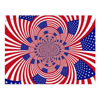 Modelo de la bandera americana tarjeta postal