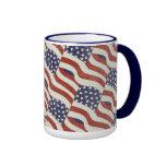 Modelo de la bandera americana taza de 15 onzas