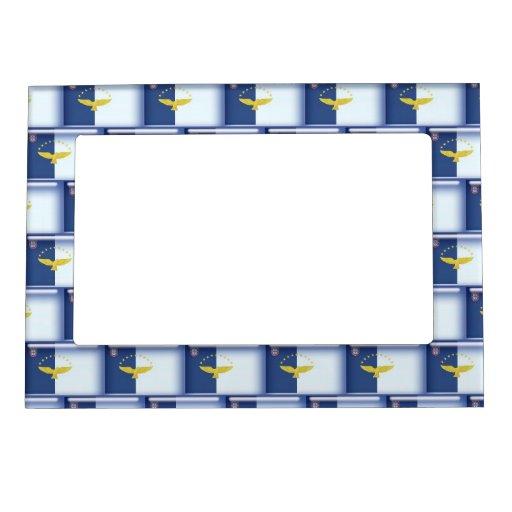 modelo de la bandera de 3D Azores Marcos Magnéticos De Fotos