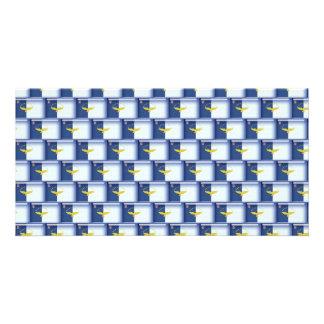 modelo de la bandera de 3D Azores Tarjetas Personales Con Fotos