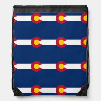Modelo de la bandera de Colorado Mochila