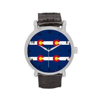 Modelo de la bandera de Colorado Relojes