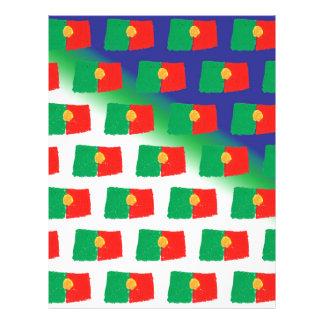 """Modelo de la bandera de Portugal Folleto 8.5"""" X 11"""""""
