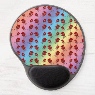 modelo de la barbacoa del arco iris alfombrilla de raton con gel