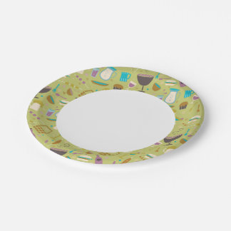 Modelo de la barbacoa plato de papel de 7 pulgadas