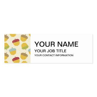 Modelo de la bellota de la acción de gracias tarjetas de visita