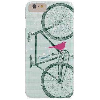Modelo de la bici del verde esmeralda del pájaro funda para iPhone 6 plus barely there