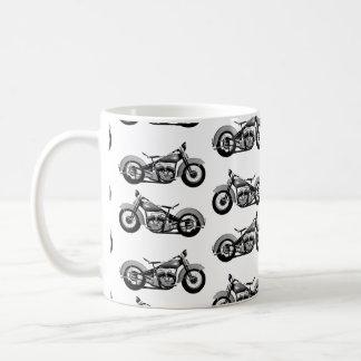 Modelo de la bici del vintage taza