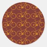 modelo de la bici para los ciclistas pegatina redonda