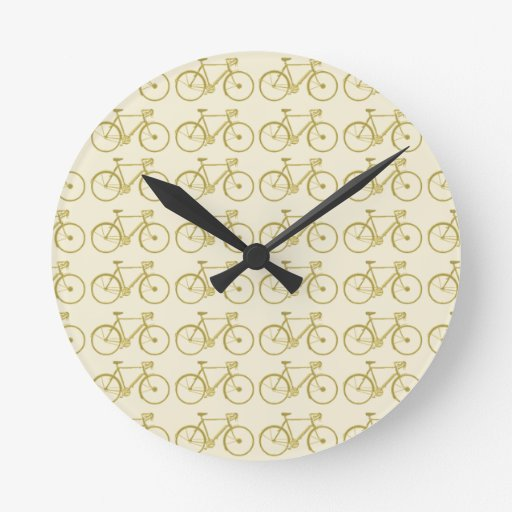 modelo de la bici reloj redondo mediano