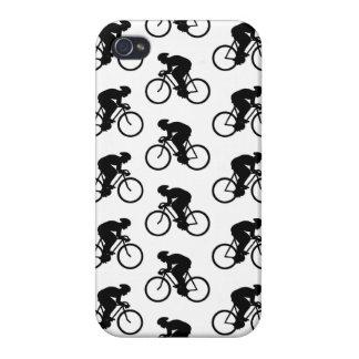 Modelo de la bicicleta en blanco y negro iPhone 4 protectores