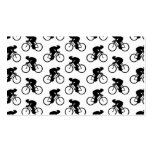 Modelo de la bicicleta en blanco y negro. tarjetas de negocios