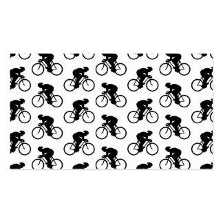 Modelo de la bicicleta en blanco y negro. tarjetas de visita