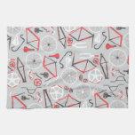 Modelo de la bicicleta toalla de mano