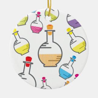 Modelo de la botella del laboratorio ornatos