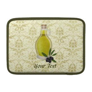 Modelo de la botella y del damasco del aceite de o fundas macbook air