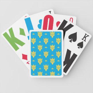 Modelo de la cabeza de la bestia de Ben Baraja Cartas De Poker