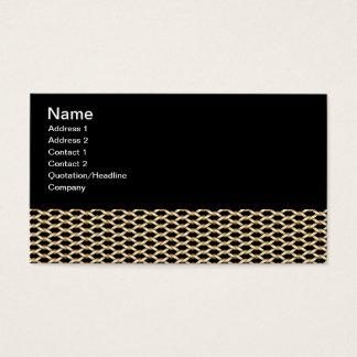 Modelo de la cadena de oro tarjetas de visita