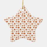 Modelo de la calabaza en anaranjado y blanco ornamentos de reyes