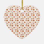 Modelo de la calabaza en anaranjado y blanco adorno para reyes