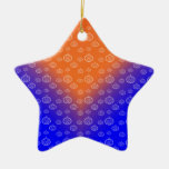 Modelo de la calabaza en azul ornaments para arbol de navidad