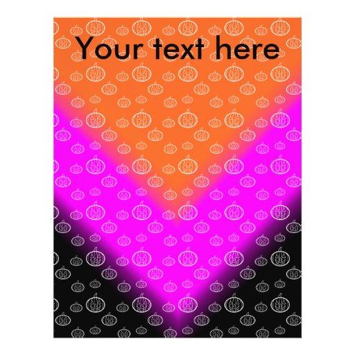 Modelo de la calabaza en negro rosado anaranjado tarjetas publicitarias