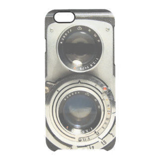 Modelo de la cámara del vintage - vieja mirada de funda clear para iPhone 6/6S
