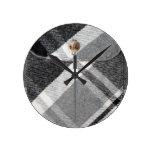 Modelo de la camisa de tela escocesa/de la camisa  reloj de pared