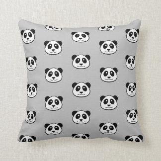 Modelo de la cara de la panda almohadas