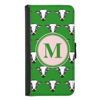 Modelo de la cara de la vaca con el monograma