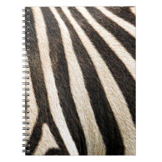 Modelo de la cebra cuaderno
