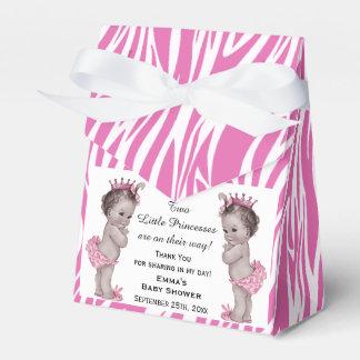 Modelo de la cebra del rosa de la fiesta de cajas para regalos de boda