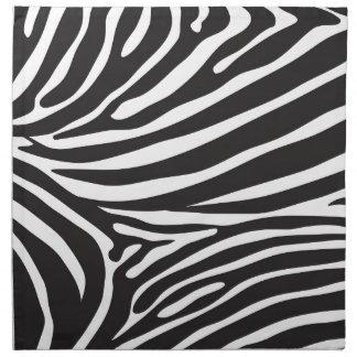 Modelo de la cebra, estampado de zebra moderno bla servilletas imprimidas
