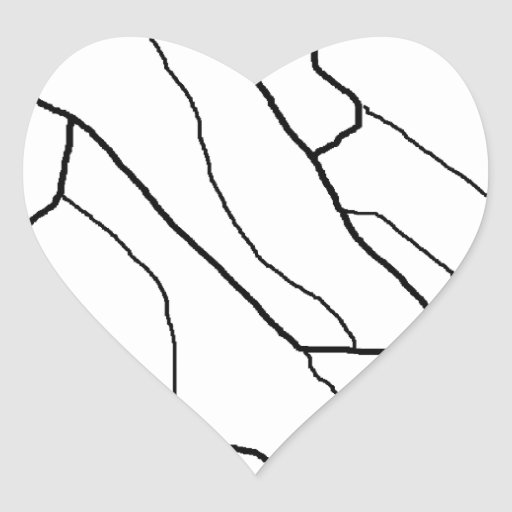 Modelo de la cebra pegatina en forma de corazón