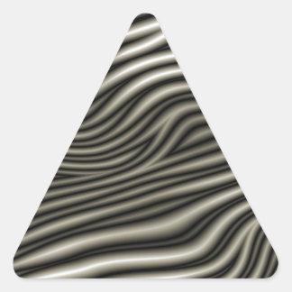 Modelo de la cebra pegatinas trianguloes