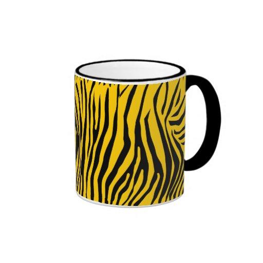Modelo de la cebra tazas de café